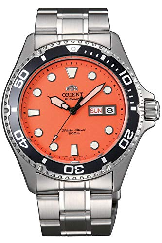 Orient FAA02006M Men's Orange Mako II Stainless Steel 200M Automatic Dive Watch