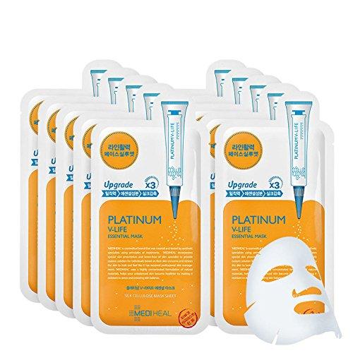 [MEDIHEAL] Platinum V-Life Essential Mask 10pcs