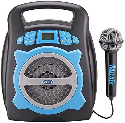 eKids Karaoke Machine for Kids Bluetooth Speaker with Microphone and Karaoke Recorder to Save product image
