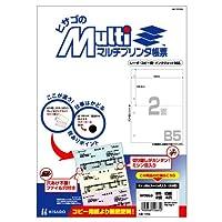 ヒサゴ マルチプリンタ帳票 B5白紙2面4穴 (100枚) BP2053