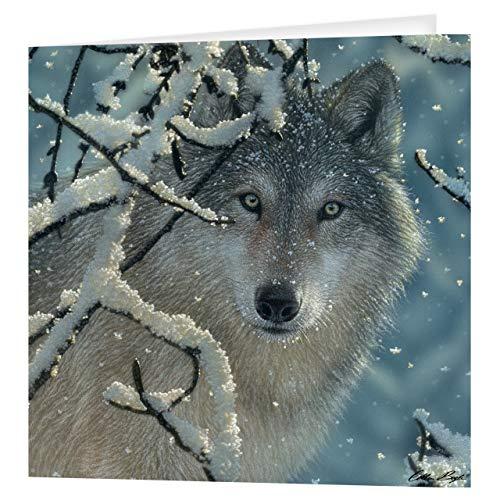 Gruß-Karte 3D LiveLife - defekte Ruhe, bunte Karte Wolf Lenticulars 3D von Deluxebase, während irgendeiner Gelegenheit und Alters. Originalvorlage genehmigt vom bekannten Künstler, Collin Bogle!