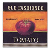 ZNNHERO昔ながらのトマトポスター北欧の壁アート野菜のキャンバスの絵画家の装飾キッチンレストランの装飾画像-60X60Cmx1フレームなし
