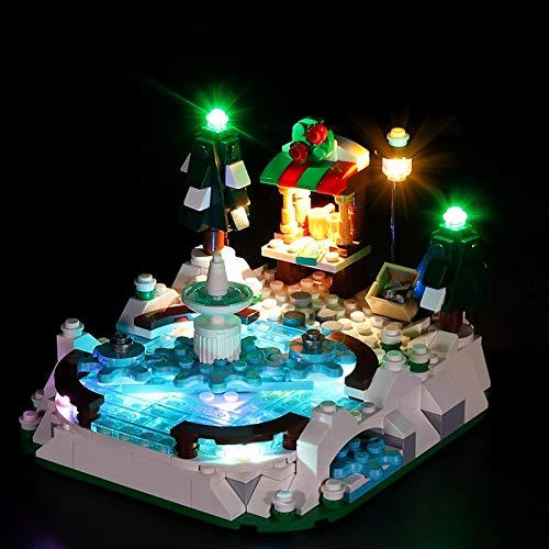Nlne Kit De Iluminación Led para Lego Ice Skating Rink, Compatible con Ladrillos De Construcción Lego Modelo 40416 (NO Incluido En El Modelo)