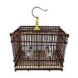 Hkwshop Jaula para pájaros Material Creativo y Respetuoso con el Medio Ambiente Jaula de pájaros Loro Rectangular Perla Pájaro Pájaro Jaula Adecuado para la cría de Aves Jaula pájaros