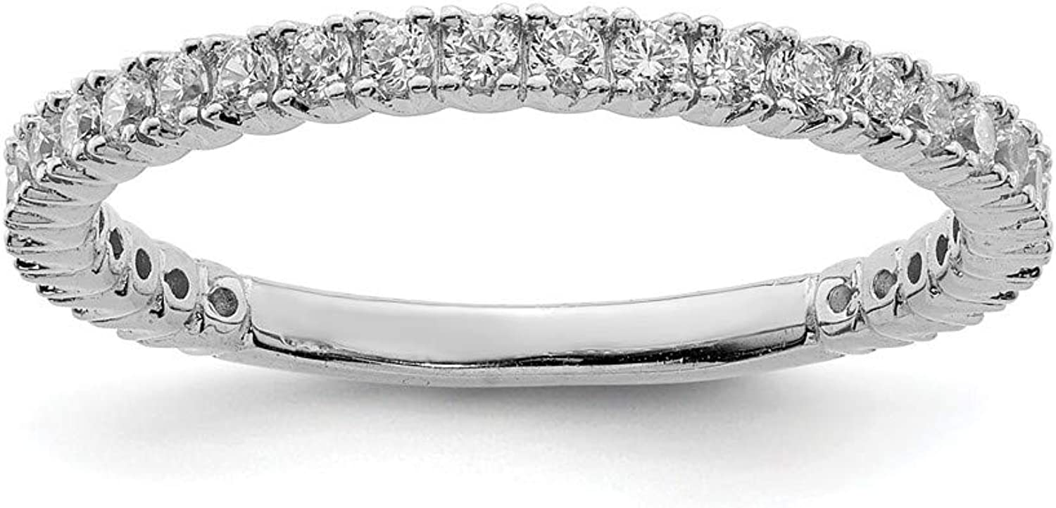 Beautiful Sterling silver 925 sterling Sterling Silver Rhodium Plated 32 Stone CZ Ring