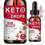 (2 Pack) BHB Keto Diet Drops - Raspberry Ketones Weight Loss Drops with BHB Exogenous Ketones - Boost Energy & Focus, Appetite suppressant and Weight Loss Supplements for Women & Men - 1 fl.oz