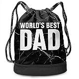 zhangyuB Bolsa con cordón World'S Best Dad Men and Women Gym Sport Yoga Shoulder Bags