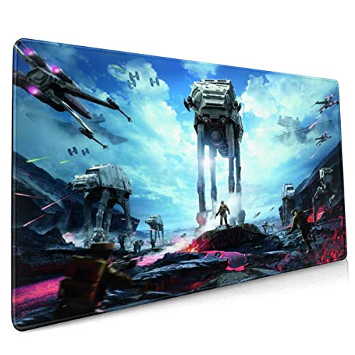 Star Wars Mouse Pad Rectangle Non-Slip Rubber Electronic Sports Oversized Large Mousepad Gaming Dedicated,for Laptop Computer & PC 15.8X35.4 Inch