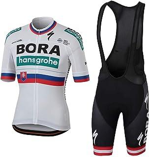 f06fdd256f21 Wulibike Completo Ciclismo Squadra Professionale Maglia Ciclismo Maniche  Corte + Pantaloncini Ciclismo Uomo per MTB