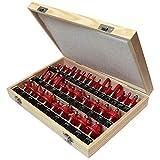 Faithfull RBS35 - Set de fresas de carburo de tungsteno (vástago de 1,3 cm, 35 piezas, en maletín)