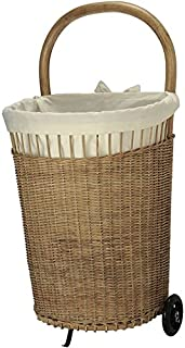 KOUBOO Wicker French Market Basket with Liner