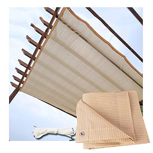 RZEMIN Toldo Malla Sombra, Paño Protección Solar para Pantalla Privacidad Balcón Al Aire Libre, Aislamiento Térmico Resistente Rayos UV, Tamaño Personalizado (Color : Beige, Size : 0.9cmx5cm)
