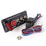 DFYYQ Motor de Encendido Inicio botón pulsador Palanca interruptores de Carreras Panel