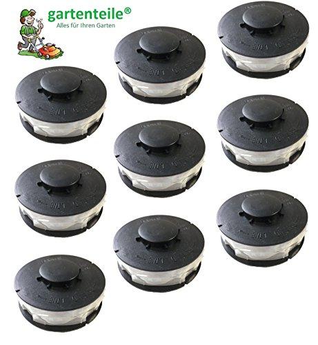 9 Stück Rasentrimmer Ersatzspule/Doppel - Fadenspule passend für ALDI Gardenline Elektro Rasentrimmer GLR 450 451 452 453 454 455 456 457 458 459 450/1 450/2 450/3 450/4 450/5