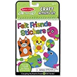 """Melissa & Doug On-the-Go Felt Friends Craft Activity Set, Step-By-Step Illustrated Instructions, Easy to Store, 188 Felt Stickers, 10"""""""" H x 6"""""""" W x 0.4"""""""" L"""