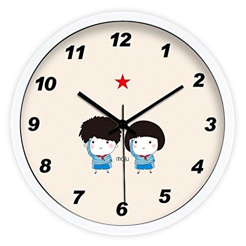 WALL CLOCK Créatif, Mignon, Peu, Amis, Chambre à Coucher, Simple, White, 12