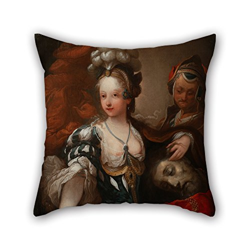 beautifulseason Throw Cushion Covers of Oil Painting Alexis Grimou (Circle of) - Judith with The Head of Holofernes 18 X 18 Inches/45 by 45 Cm Best Fit for Teens Girls Chair Bar Gril Friend Adult