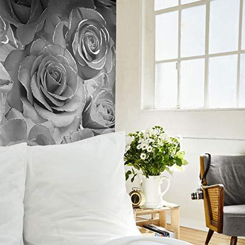 Muriva Madison Glitter Vinyl Wallpaper Silver 139520 Full Roll