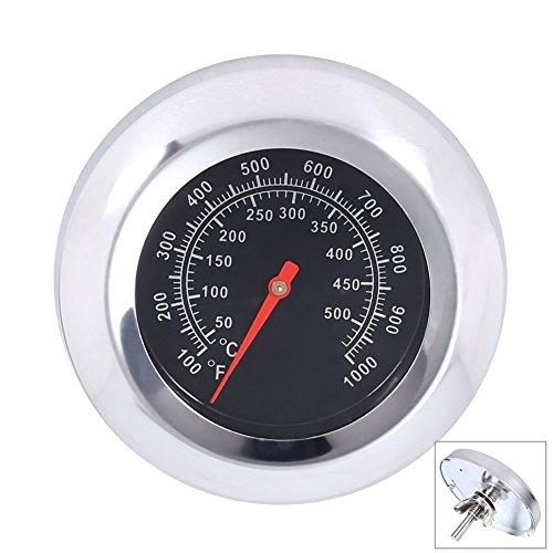 Qiorange Grillthermometer Thermometer Ofenthermometer Edelstahl BBQ Gasgrill Grillwagen bis 500 °C / 1000 °F (Typ 1000°F)