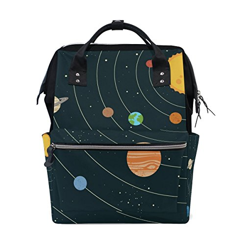 Bennigiry éducatif apprentissage Tapis Galaxy planètes étoiles Bleu Sac à langer à Sac à dos Grande capacité de voyage à dos multifonctions Organiseur de sacs à couches bébé Sacs pour Mom