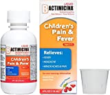 Children's BACTIMICINA Pain and Fever Liquid, 160 mg Acetaminophen Fever Reducer/Pain Reliever, Ages 2-11, Natural Cherry Flavor, Made in USA, 4 FL OZ.