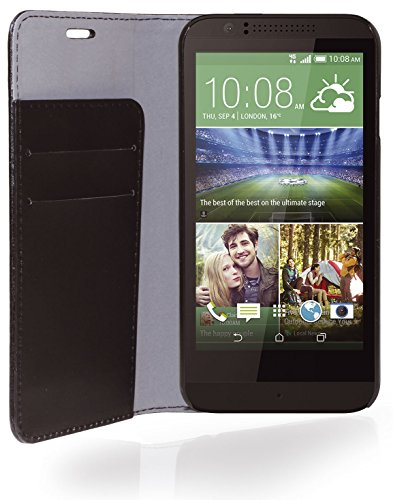 Phonix Öko-Leder Buch-Hülle für HTC Desire 510 schwarz