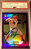 2011 Mike Trout Bowman Chrome Purple Refractor Signed RC Graded PSA NM 7 AUTO 9 - Baseball Slabbed Rookie Cards. rookie card picture
