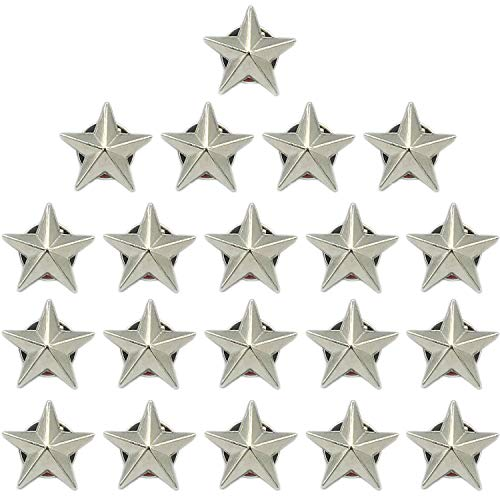10 Pieces Star Badge Silver Lapel Pin for 4th of July Memorial Day Veterans Day