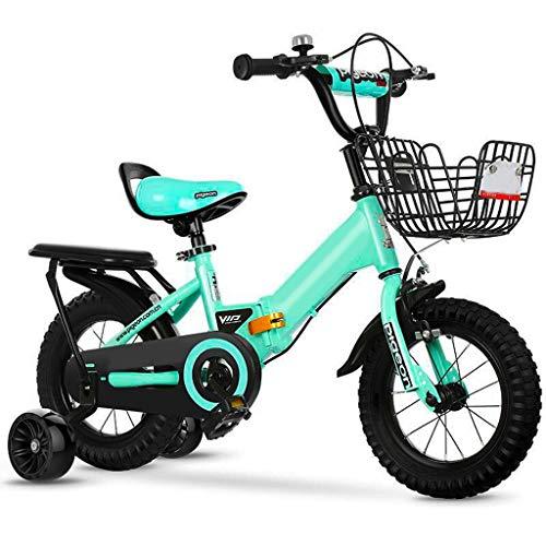 Xiaoping Fahrradklappfahrrad Der Kinder 2-3-4-6-7 Jahre Altes Jungenmädchenfahrrad Mit Hilfsrad (Size : 14in)