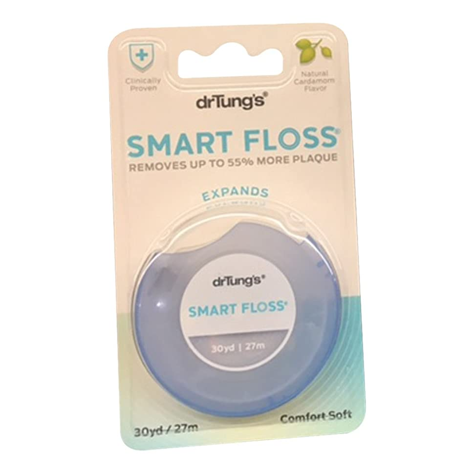 Dr. Tung's Smart Floss, 30 yds, Natural Cardamom Flavor 1 ea Colors May Vary (Pack of 6)