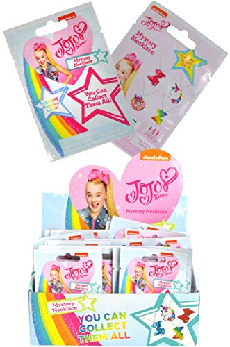 UPD JoJo Siwa Mystery Pack Metal Chain Necklace Blind Bag, Cute & Fun Collectible Necklaces for Party Favors, Goodie Bags, Birthday Gift, Surprise Toys for Kids, Toddlers Girls Neck Accessories