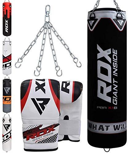 RDX Sac de Frappe Rempli Lourd Punching Ball MMA Muay Thai Kickboxing Arts Martiaux Kit Boxe avec...