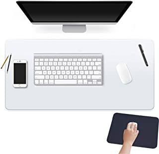 24 X 60 Inch XL Desk Pad Protector Clear Desk Mats Blotter on Top of Desks for Laptop Computer Keyboard PVC Vinyl Large Desktop Writing Mat Cover With Mouse Pad Transparent Waterproof Wipeable Plastic