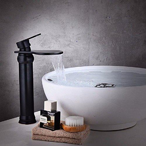 Waschtischarmatur Wasserhahn mit herausziehbarer Dual-Spülbrause Wasserhahn Kaltes Heißes Wasser Messing Antiker Wasserhahn aus Kupfer amerikanischer Waschtisch heißer und kalter Wasserhahn