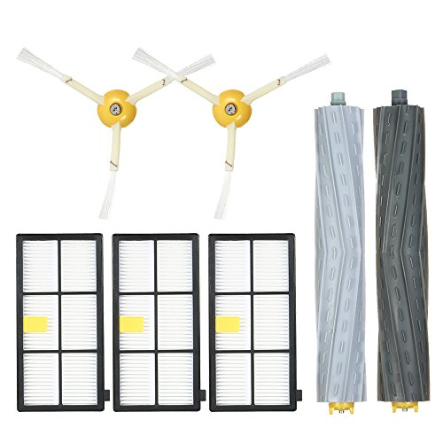 Decdeal Conjunto de 7 kits de acessórios de reposição para iRobot Roomba 800 & 900 Series 805 860 861 864 866 870 880 890 891 894 960 961 964 966 980 Aspirador