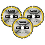 Dewalt DT1962-QZ Lame de scie circulaire, Argent, Set de 3 Pièces