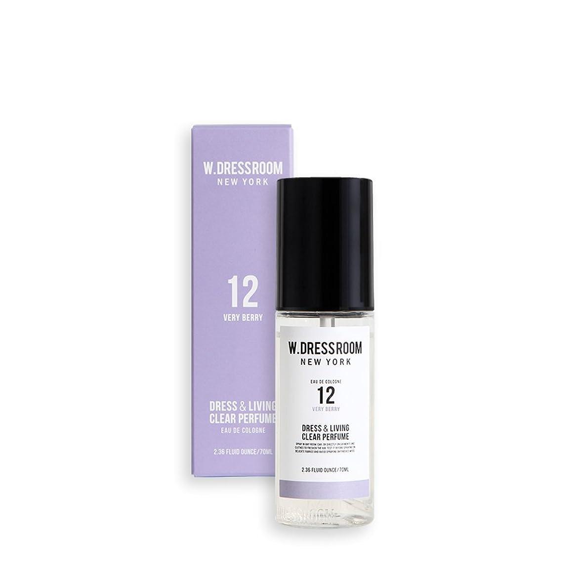 権威核攻撃的W.DRESSROOM Dress & Living Clear Perfume 70ml/ダブルドレスルーム ドレス&リビング クリア パフューム 70ml (#No.12 Very Berry) [並行輸入品]