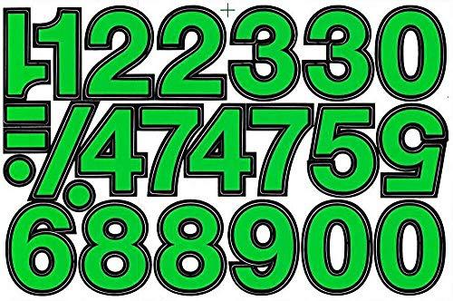 (シャシャン)XIAXIN 防水 PVC製 ナンバー ステッカー セット 耐候 耐水 数字 キャラクター 表札 スーツケース ネームプレート ロッカー 屋内外 兼用 TS-140 (1点, グリーンXブラック)