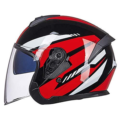 Elektrische motorhelm persoonlijkheid batterij auto dubbele lens halve helm vrouwelijk licht half overdekt vier seizoenen