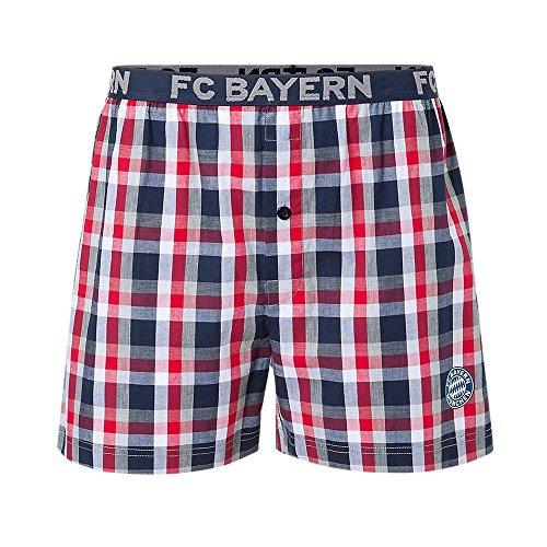 FCB Bayern München Fussball Boxershort Karo mit FCB Logo kariert Herren Größe 5