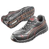 Puma Safety Shoes Daytona Low S3 HRO SRC, Puma 642620-210 Unisex-Erwachsene Espadrille Halbschuhe, Schwarz (schwarz/rot 210), EU 43