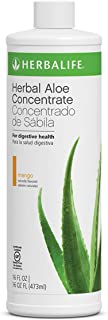 Aloe Vera Herbal Concentrate in Mango Flavor Pint 16 FL OZ Supports Healthy Digestion