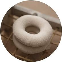 Newborn Photography Props Doughnut-Shaped Pillows Baby Photo Shoot Hidden Posing Head Ring Pillow Props(White)
