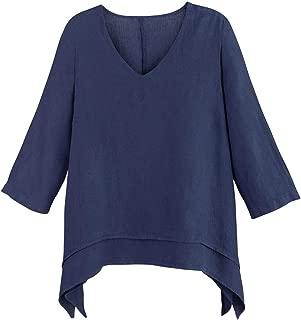 ladies linen tunic tops