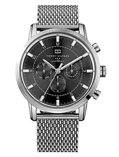 Reloj para hombre Tommy Hilfiger 1790877, mecanismo de cuarzo, diseño con varias esferas, correa de acero inoxidable.