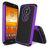 Dingoo-Motorola Moto G6 Play (XT1922-9) Case,Moto G6 Forge/Moto E5 (XT1920DL) Phone Case[Hybrid Dual Layer][Shockproof Bumper] Hard Armor Slim Fit Heavy Duty Protective Cover