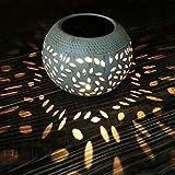 Petrala Solar Table Lights Outdoor Waterproof 8 Lumen White Metal Decorative Lighting Lantern for Desk Patio