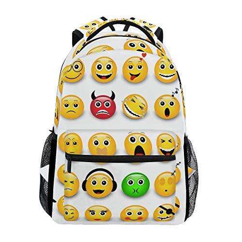 Mochila Emoticones Amarillos Emojis Casual Mochila Escolar Mochila Viaje