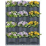 Vertikaler Wand-Übertopf von BTONGE für den Garten, Pflanztasche für drinnen und draußen, Wandhalterung, Pflanzgefäß für Blume, Büro, Heimdekoration – 12 Taschen