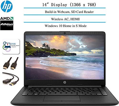 2020 HP 14 inch HD Laptop Newest for Business and Student, AMD Athlon Silver 3050U (Beat i5-7200U), 4GB RAM, 128GB SSD, 802.11ac, WiFi, Bluetooth, HDMI, Windows 10 + CUE Accessories